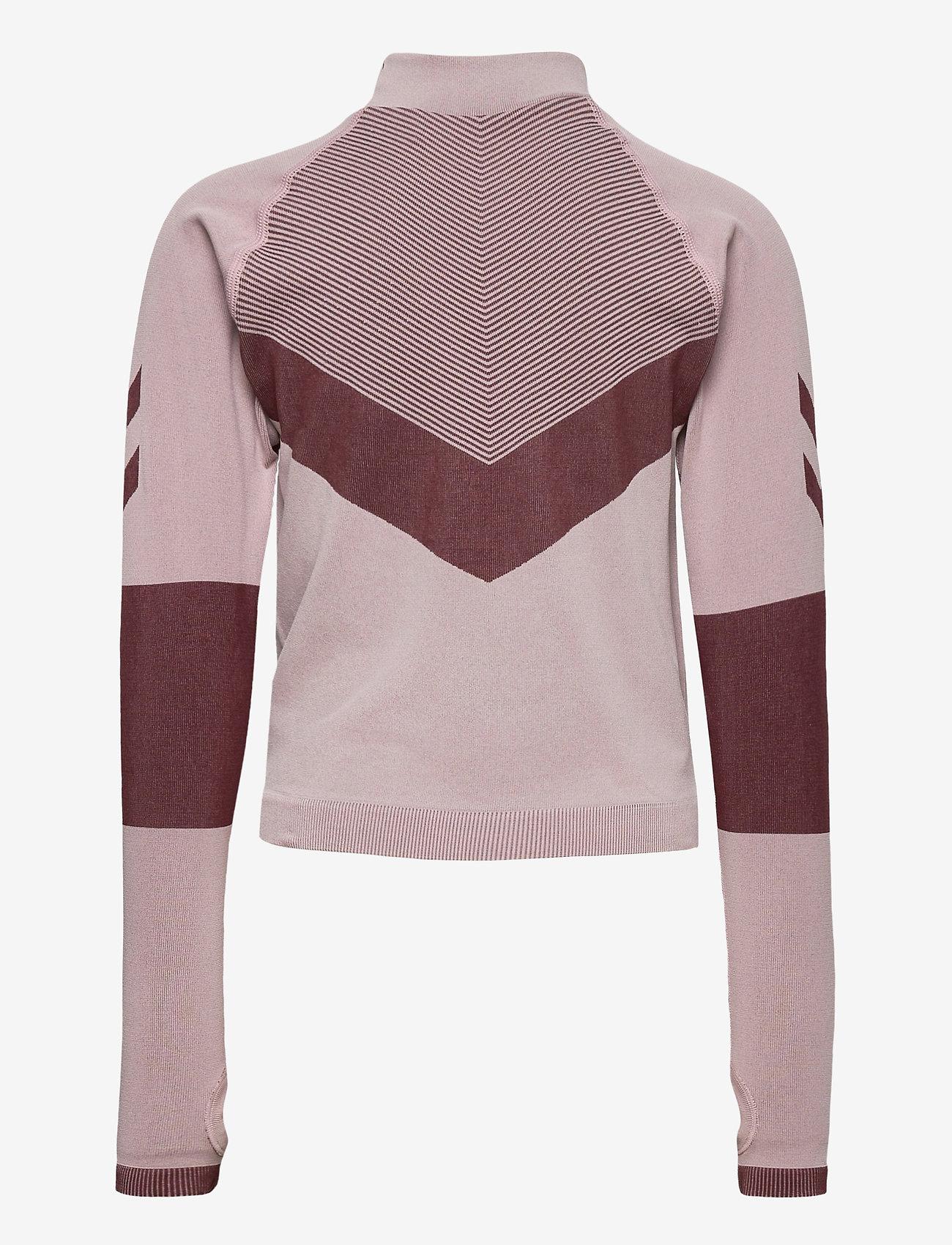 Hummel - hmlKITH SEAMLESS T-SHIRT L/S - long-sleeved t-shirts - deauville mauve - 1