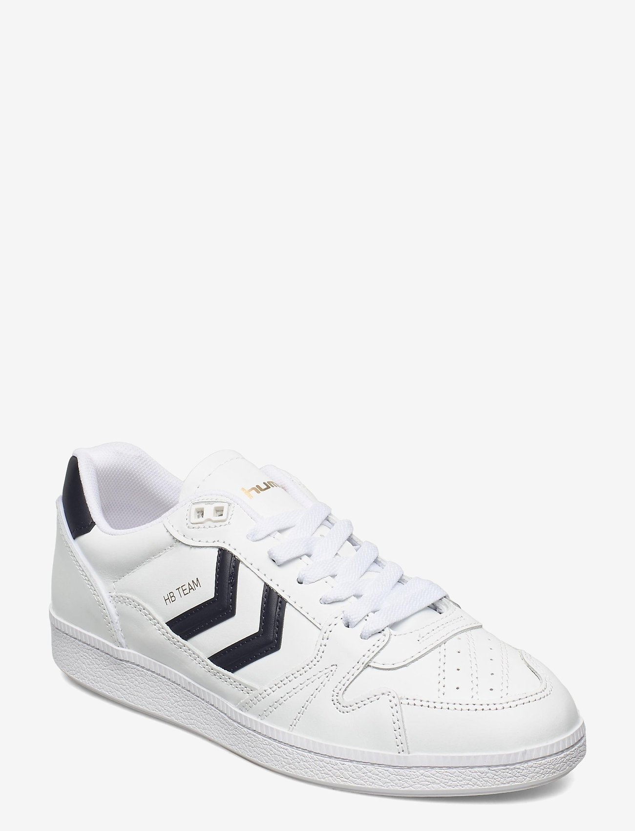 Hummel - HB TEAM LEATHER - laag sneakers - white/navy - 0