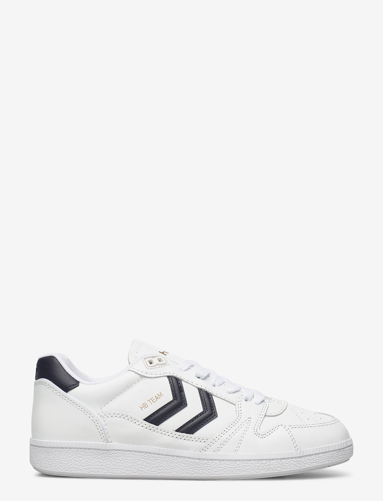 Hummel - HB TEAM LEATHER - laag sneakers - white/navy - 1
