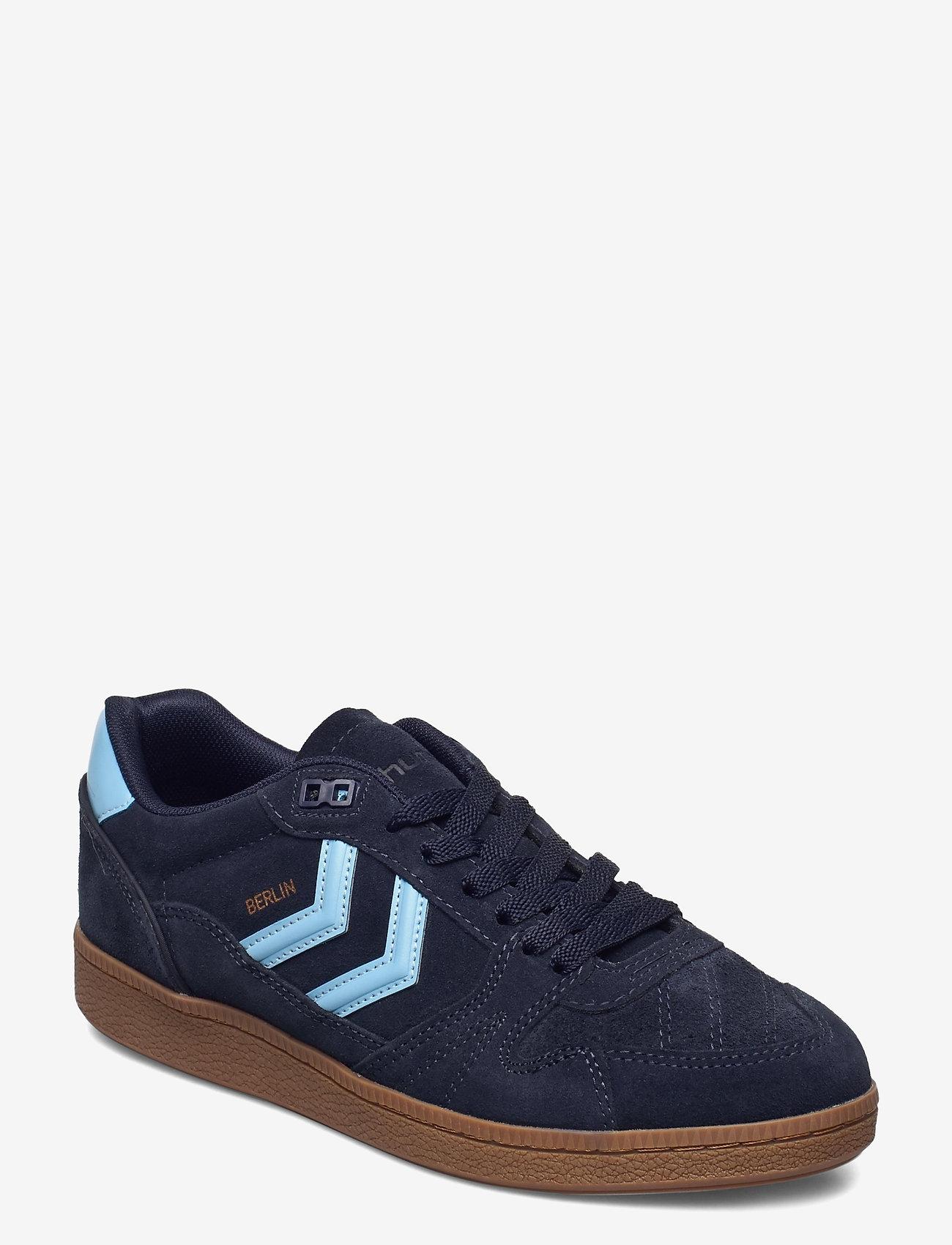 Hummel - HB TEAM SUEDE - laag sneakers - peacoat - 0