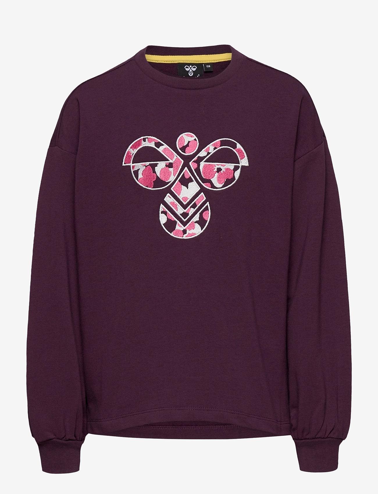 Hummel - hmlSHIKOKO SWEATSHIRT - sweatshirts - blackberry wine - 0