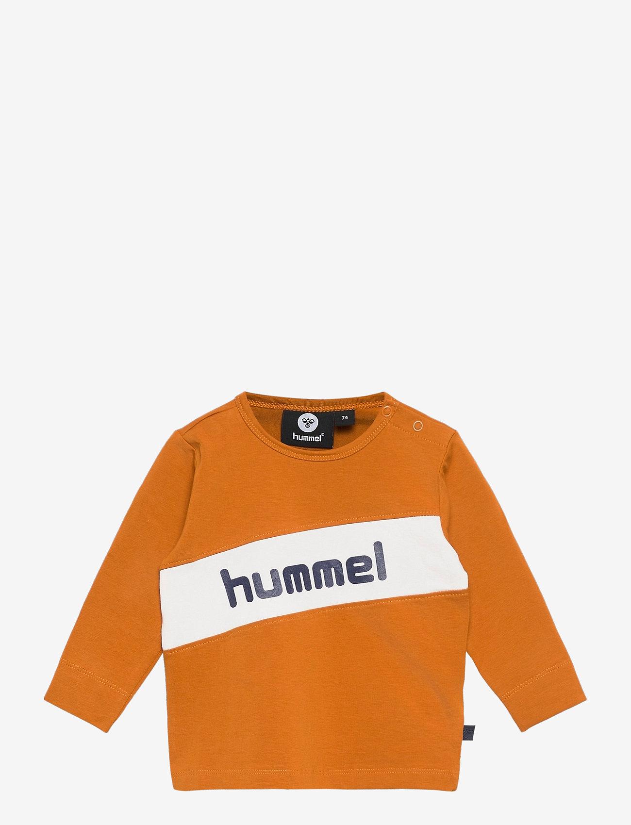 Hummel - hmlCLEMENT T-SHIRT L/S - long-sleeved t-shirts - pumpkin spice - 0