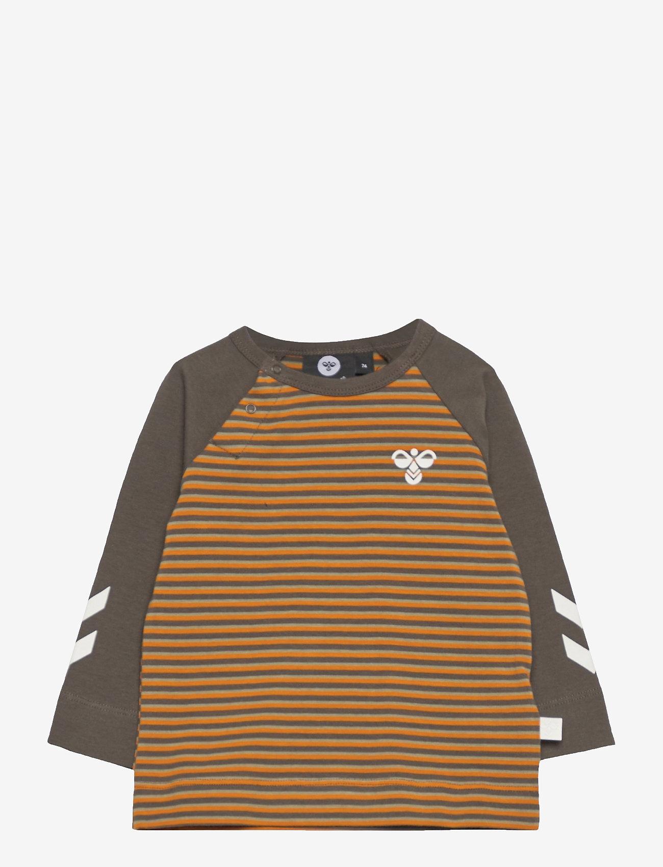 Hummel - hmlSTANTON T-SHIRT L/S - long-sleeved t-shirts - black olive - 0
