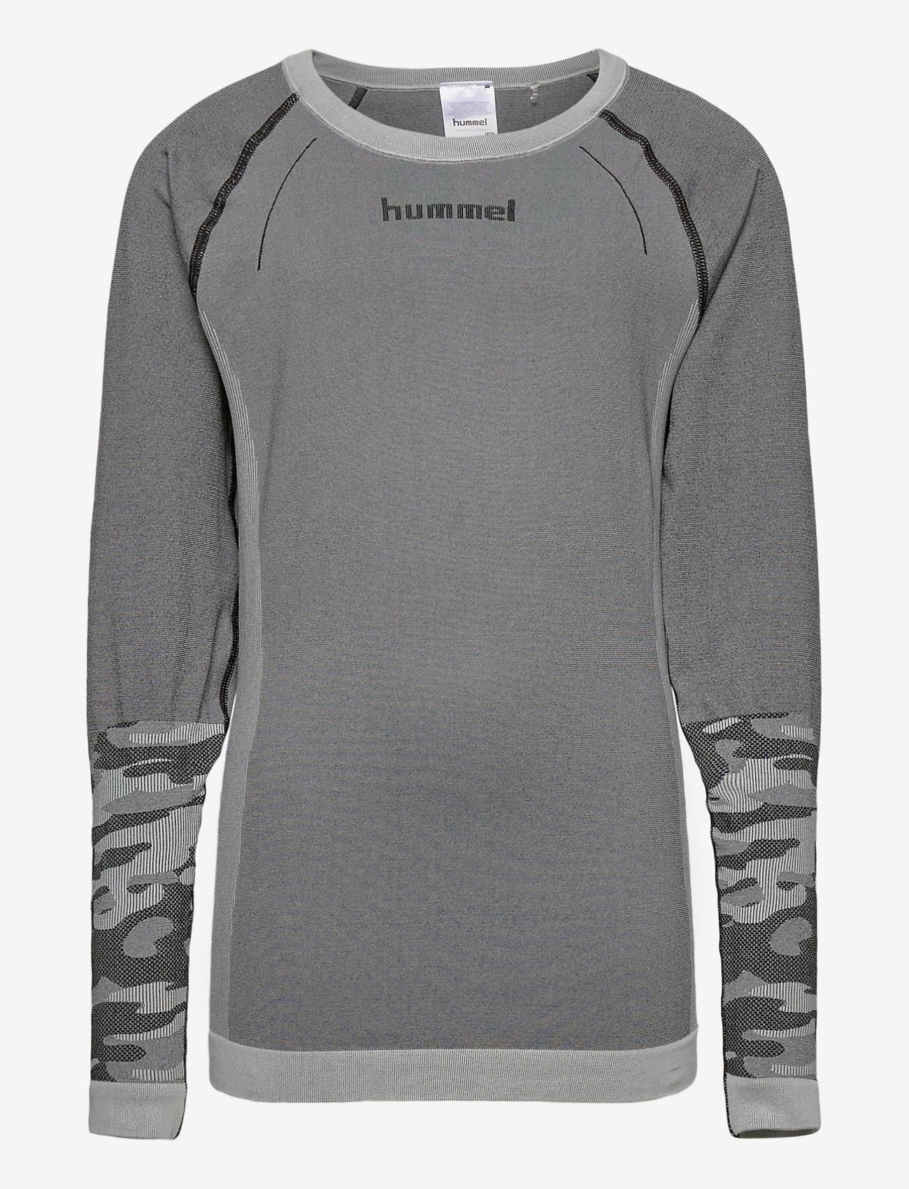 Hummel - hmlMAX SEAMLESS T-SHIRT L/S - long-sleeved t-shirts - medium melange - 0
