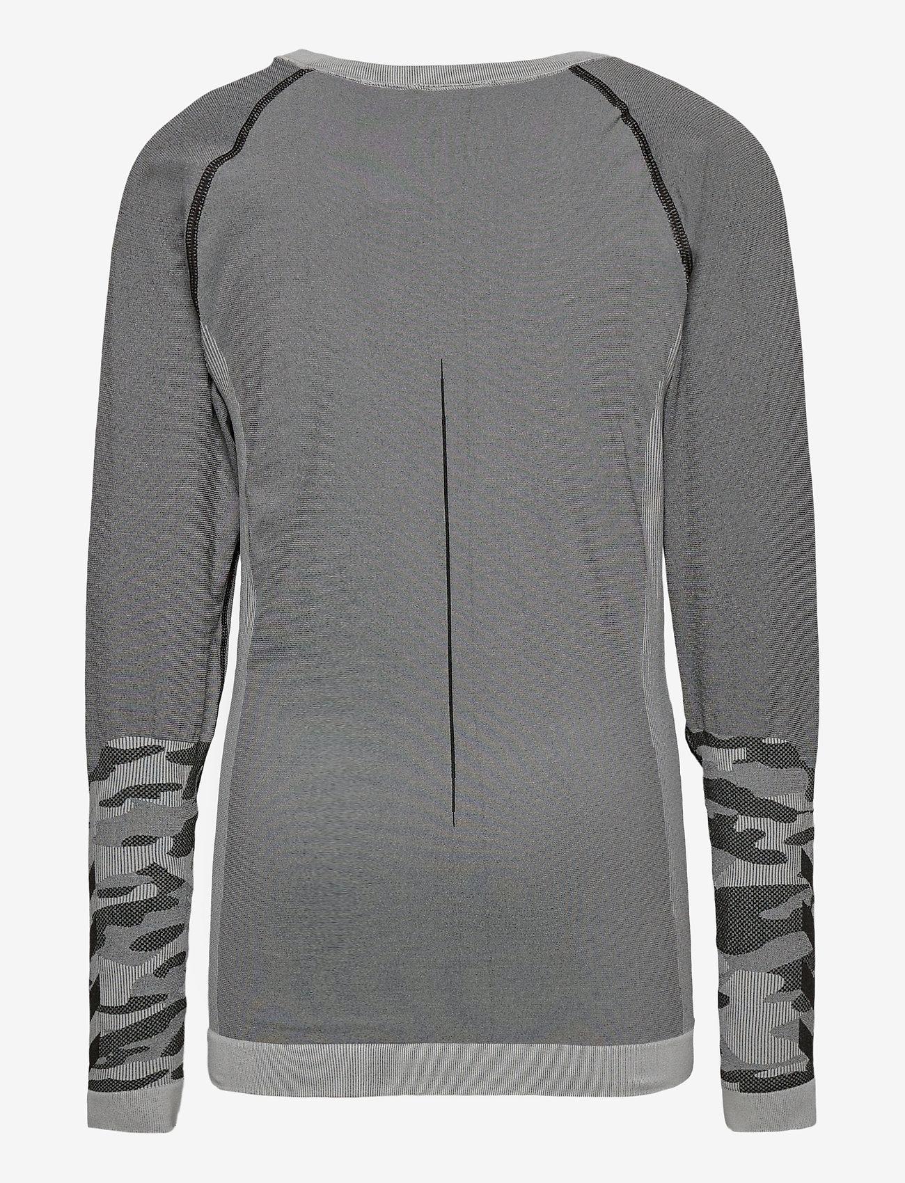 Hummel - hmlMAX SEAMLESS T-SHIRT L/S - long-sleeved t-shirts - medium melange - 1