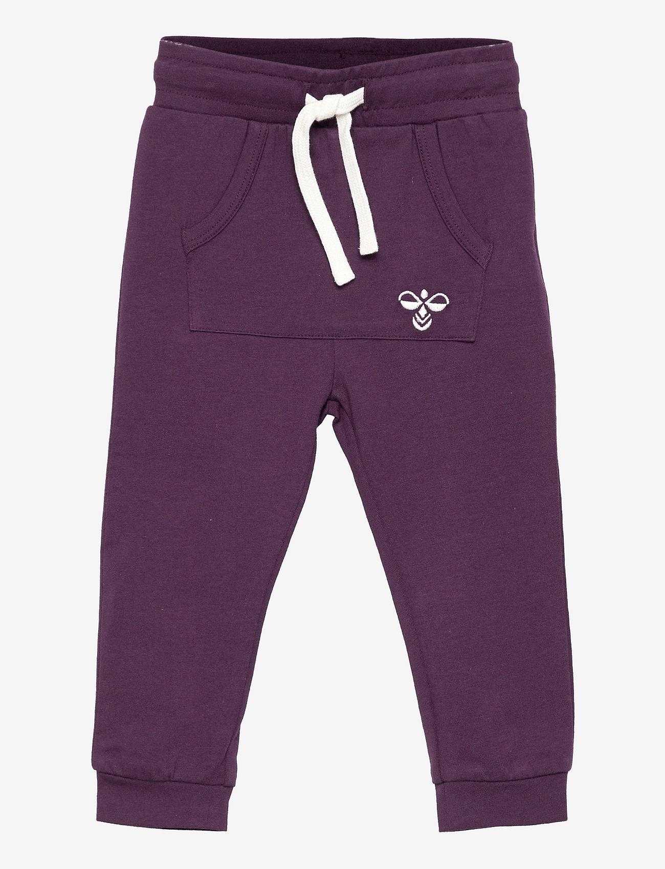Hummel - hmlFUTTE PANTS - sports pants - blackberry wine - 0