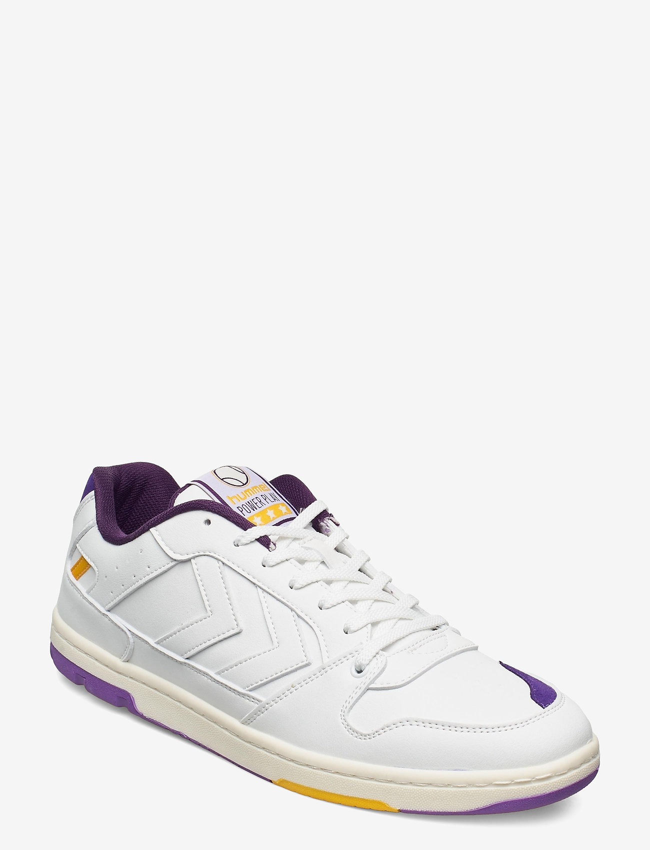 Hummel - POWER PLAY VEGAN ARCHIVE - laag sneakers - white/dahlia purple/geranium - 1