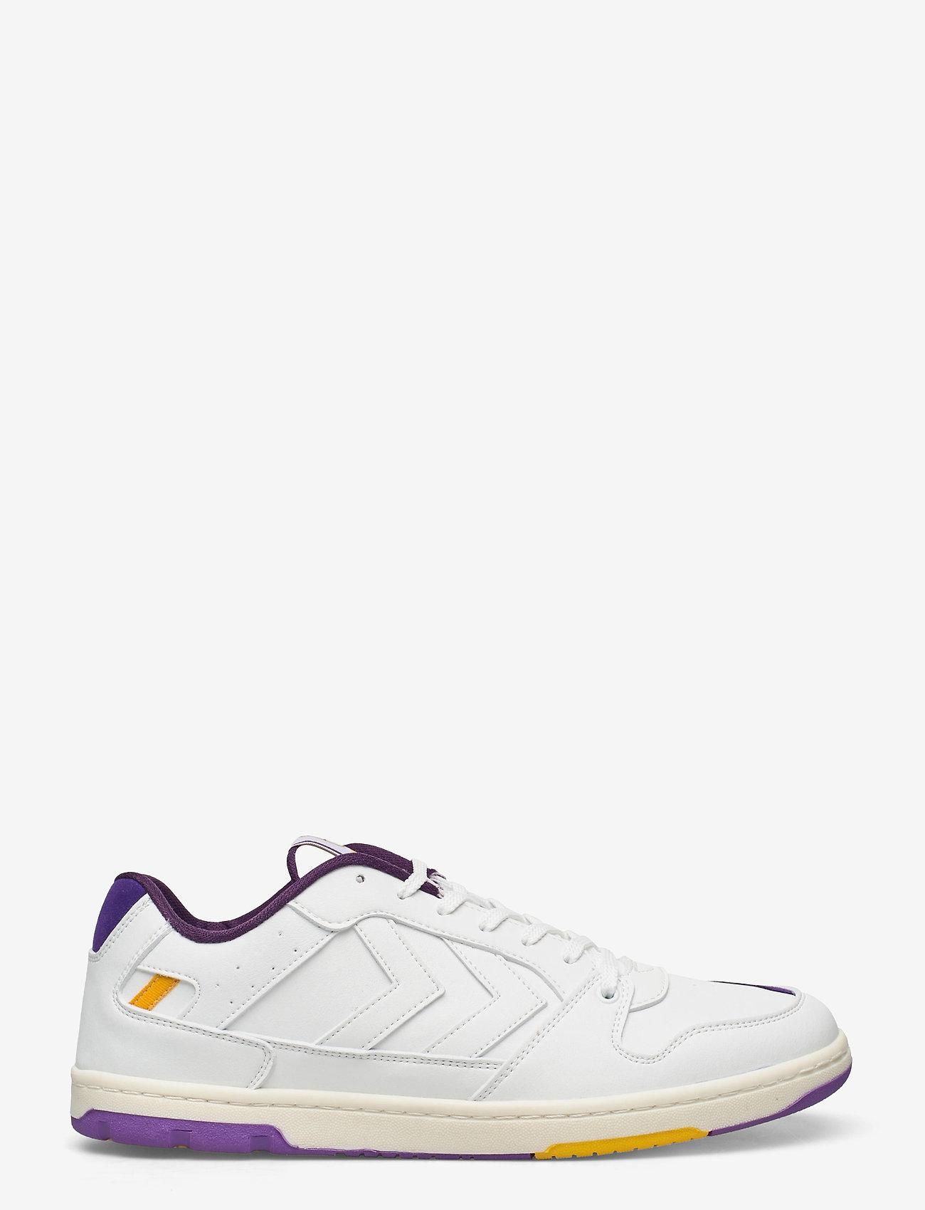 Hummel - POWER PLAY VEGAN ARCHIVE - laag sneakers - white/dahlia purple/geranium - 0