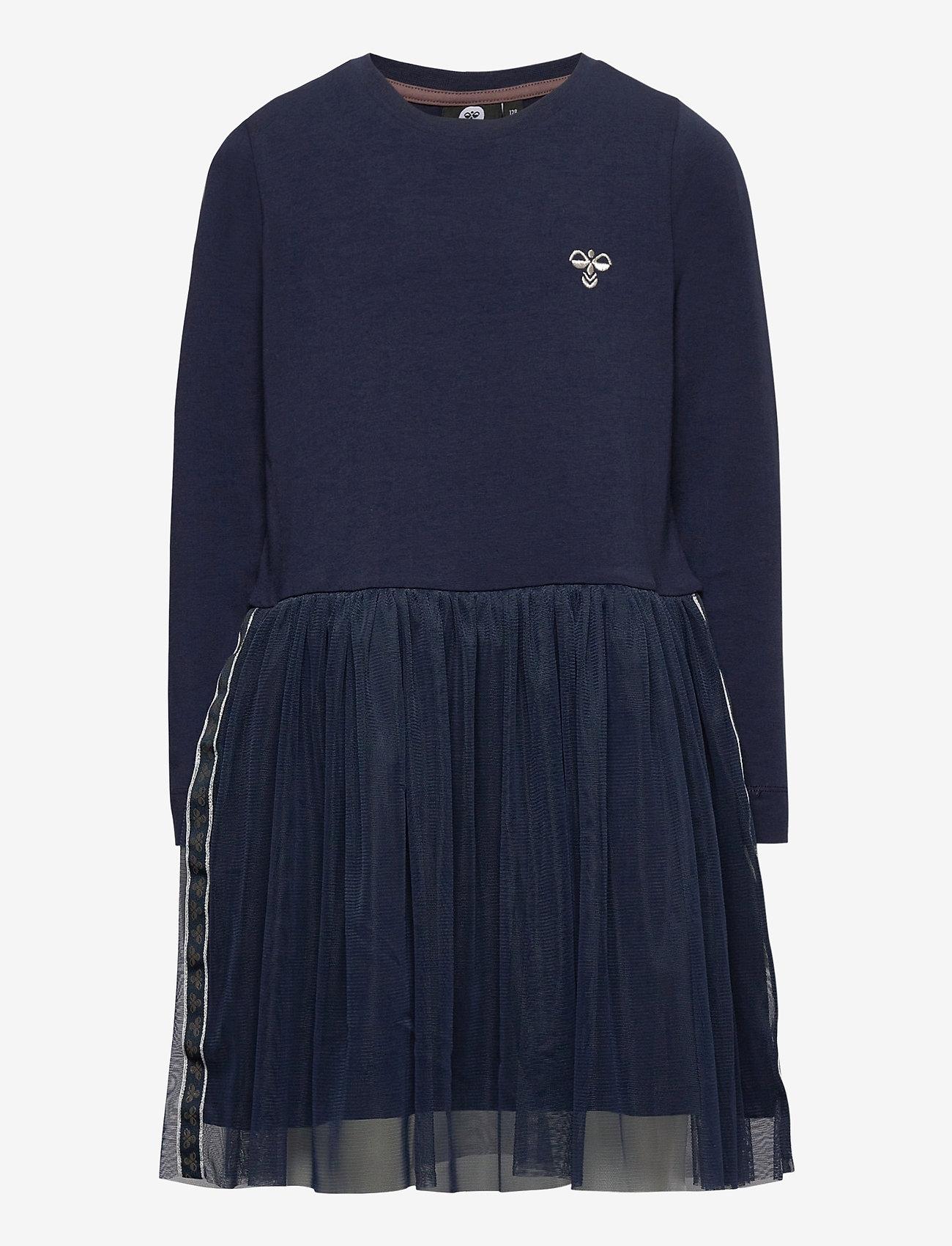 Hummel - hmlMAE DRESS L/S - dresses - black iris - 0