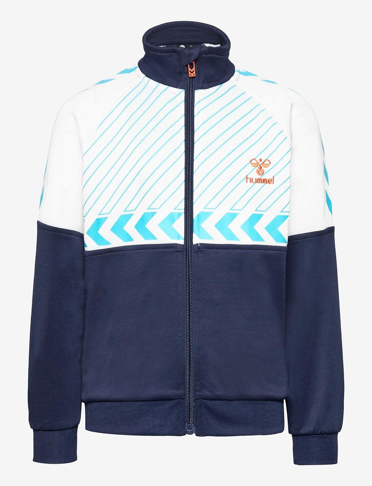 Hummel - hmlDENNIS ZIP JACKET - sweatshirts - black iris - 0