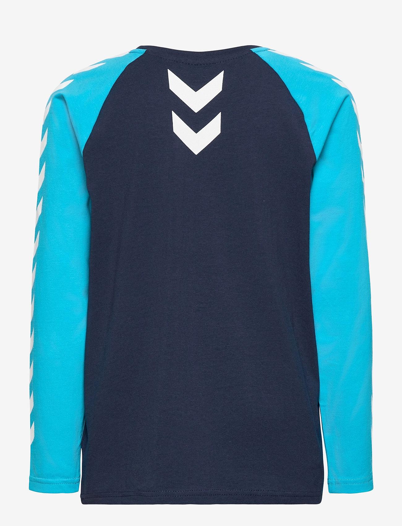 Hummel - hmlMICHAEL T-SHIRT L/S - long-sleeved t-shirts - scuba blue - 1