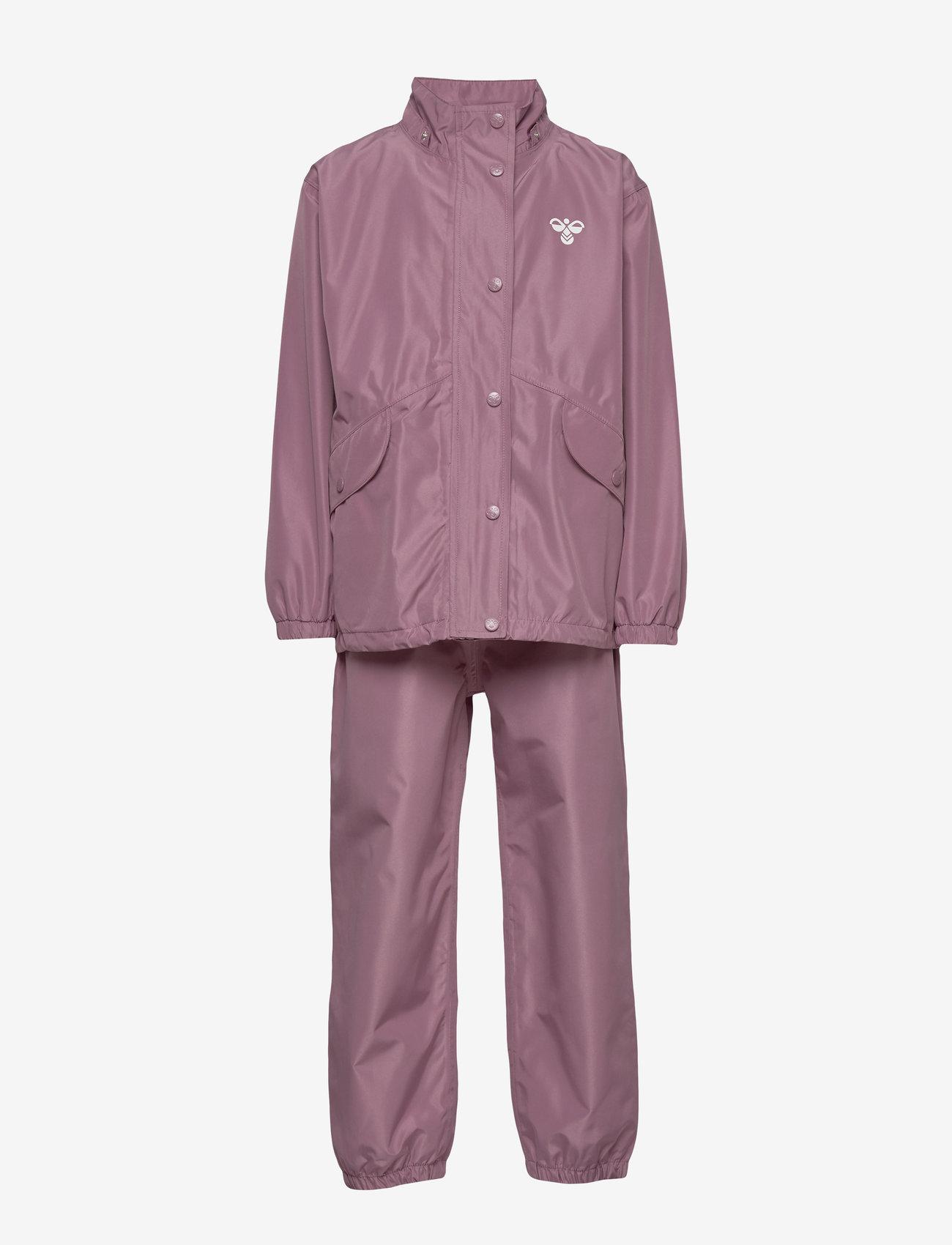 Hummel - hmlREVA RAINSUIT - outerwear - dusky orchid - 0