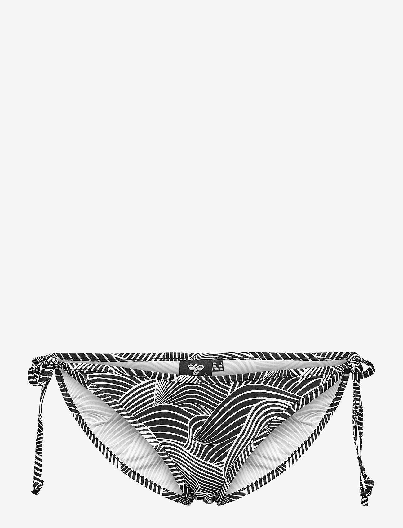 Hummel - hmlOCEAN SWIM TANGA - bikini z wiązaniami po bokach - black/white - 0