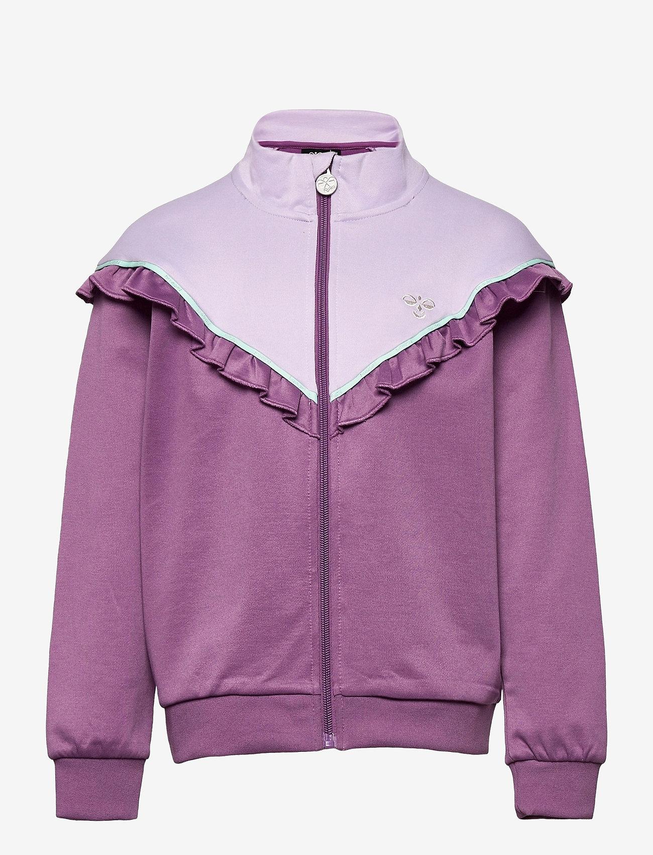 Hummel - hmlJEWEL ZIP JACKET - sweatshirts - chinese violet - 0