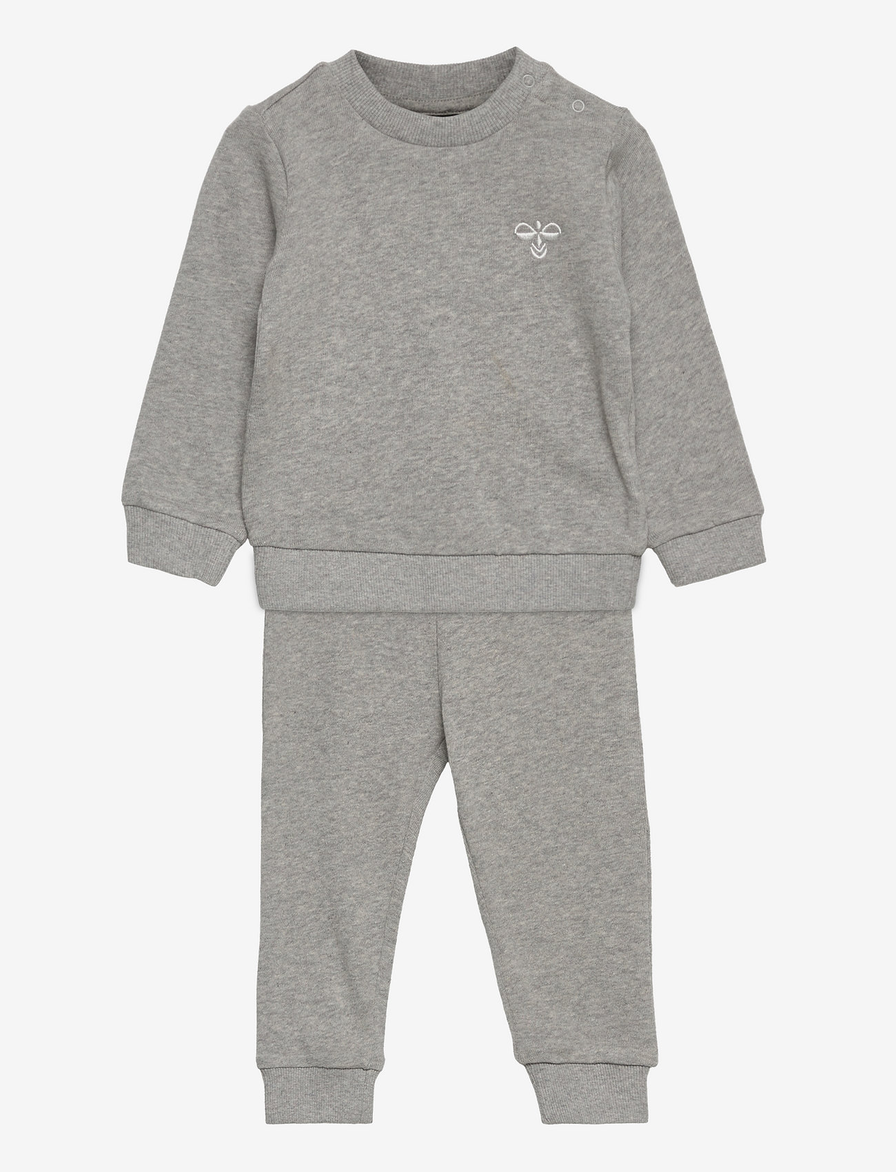 Hummel - hmlSANTO CREW SUIT - 2-piece sets - grey melange - 0