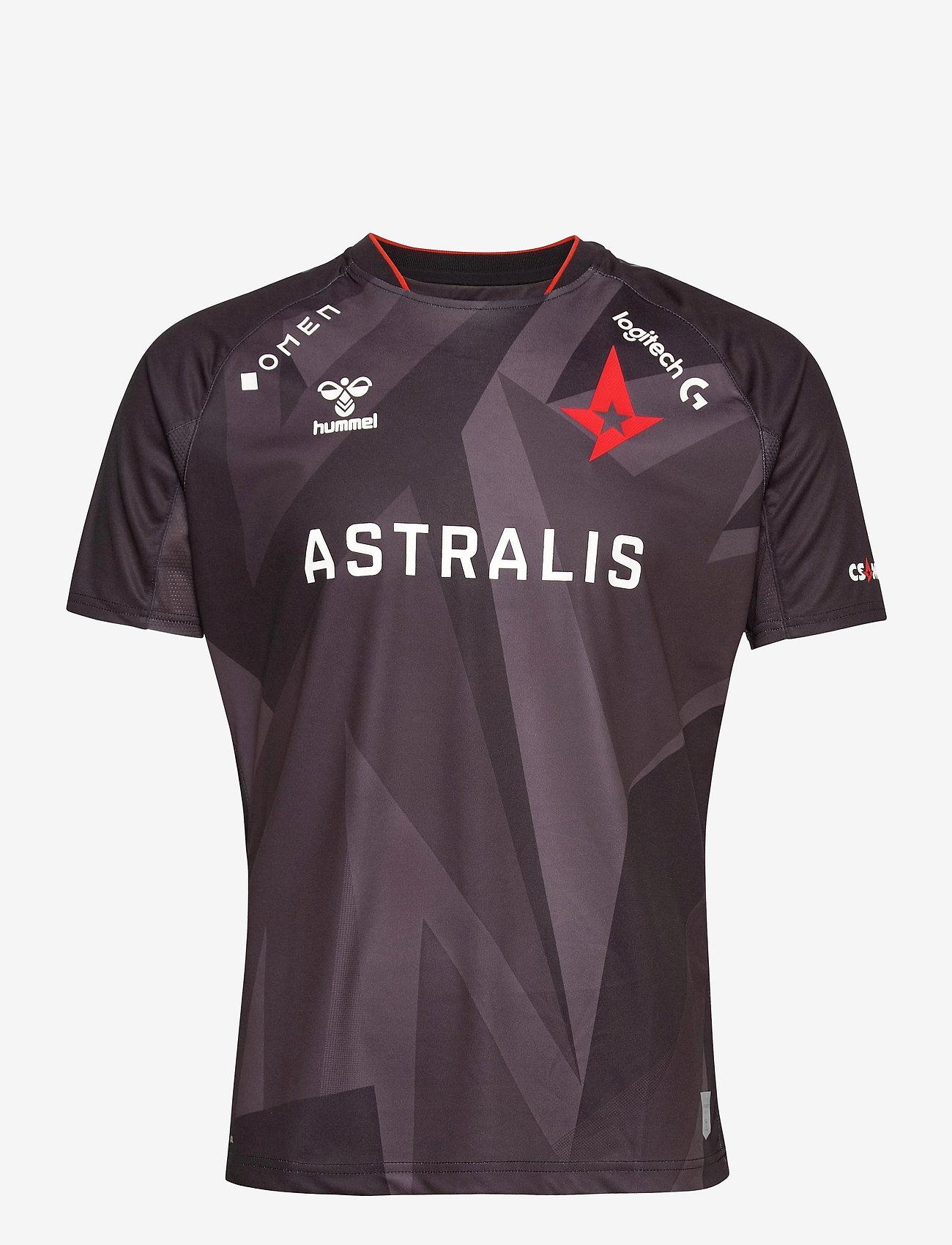Hummel - ASTRALIS 20/21 GAME JERSEY S/S - football shirts - black w/logo - 0