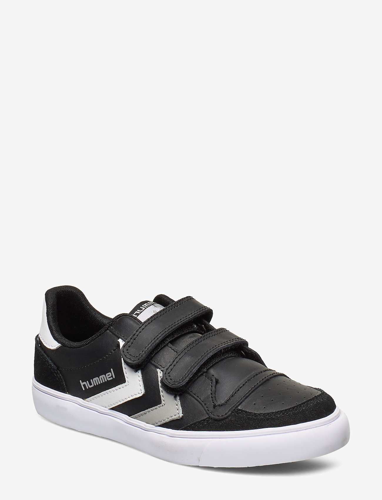 Hummel - HUMMEL STADIL JR LEATHER LOW - baskets - black/white/grey - 0