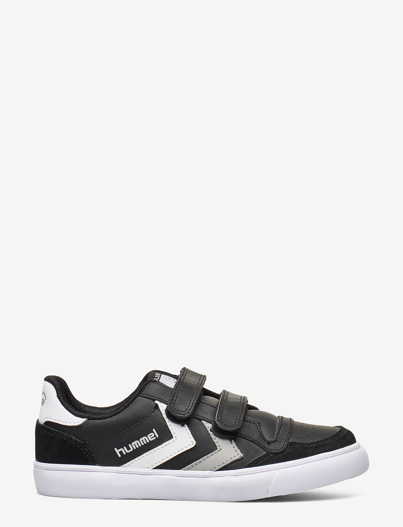 Hummel - HUMMEL STADIL JR LEATHER LOW - baskets - black/white/grey - 1