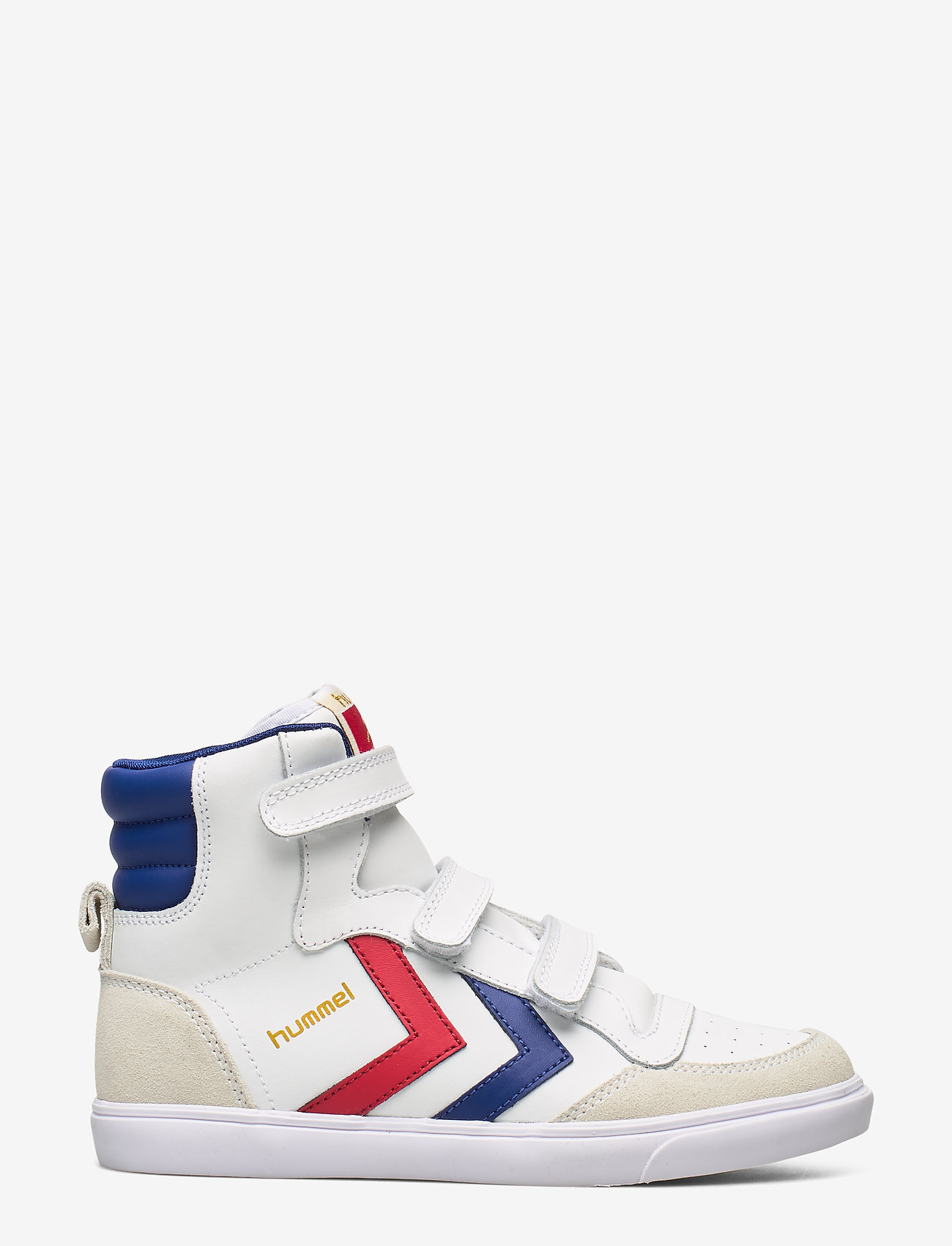 Hummel - HUMMEL STADIL JR LEATHER HIGH - sneakers - white/blue/red/gum