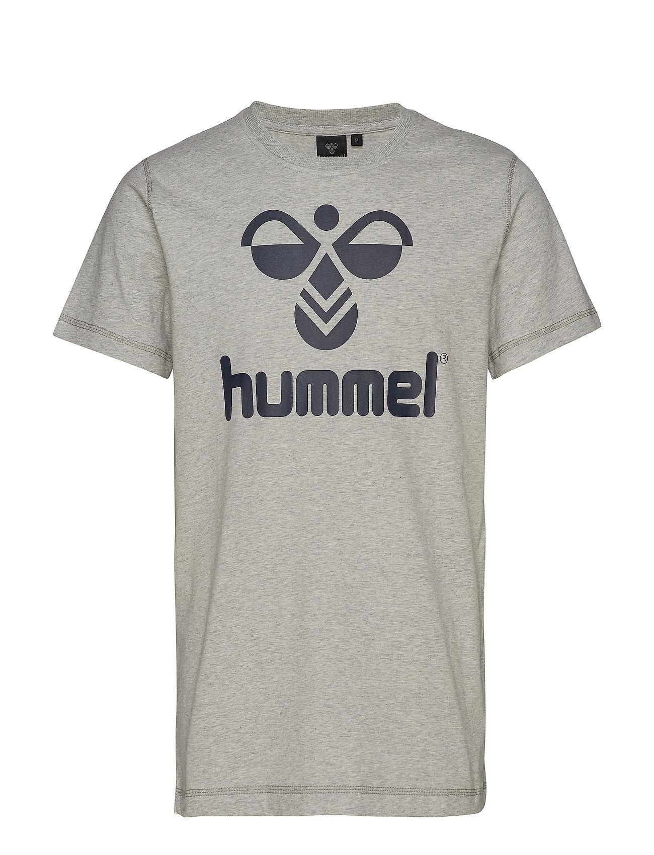 Hummel CLASSIC BEE COTTON TEE - GREY MELANGE