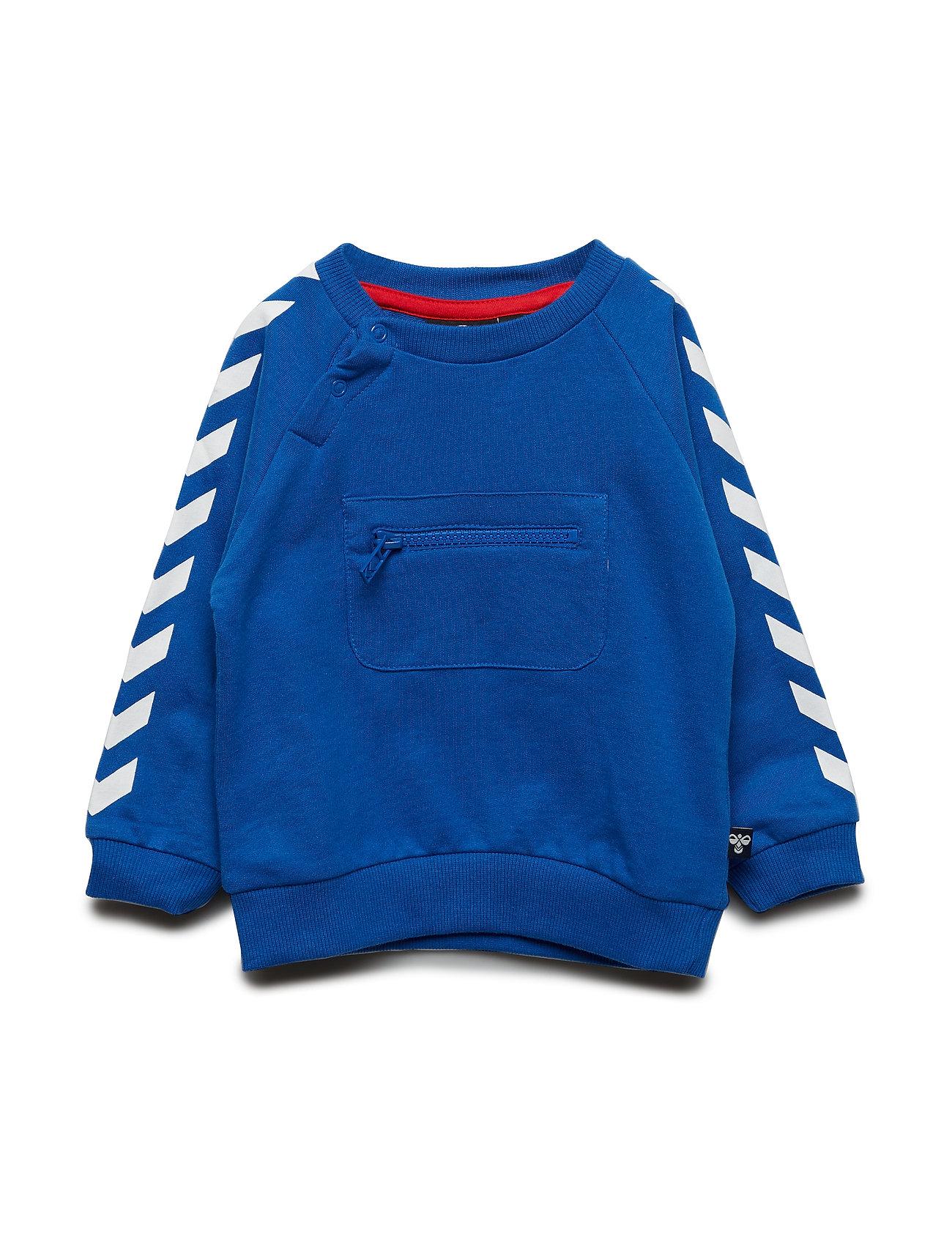 Hmlvinnie Sweatshirt Sweatshirt Trøje Blå Hummel