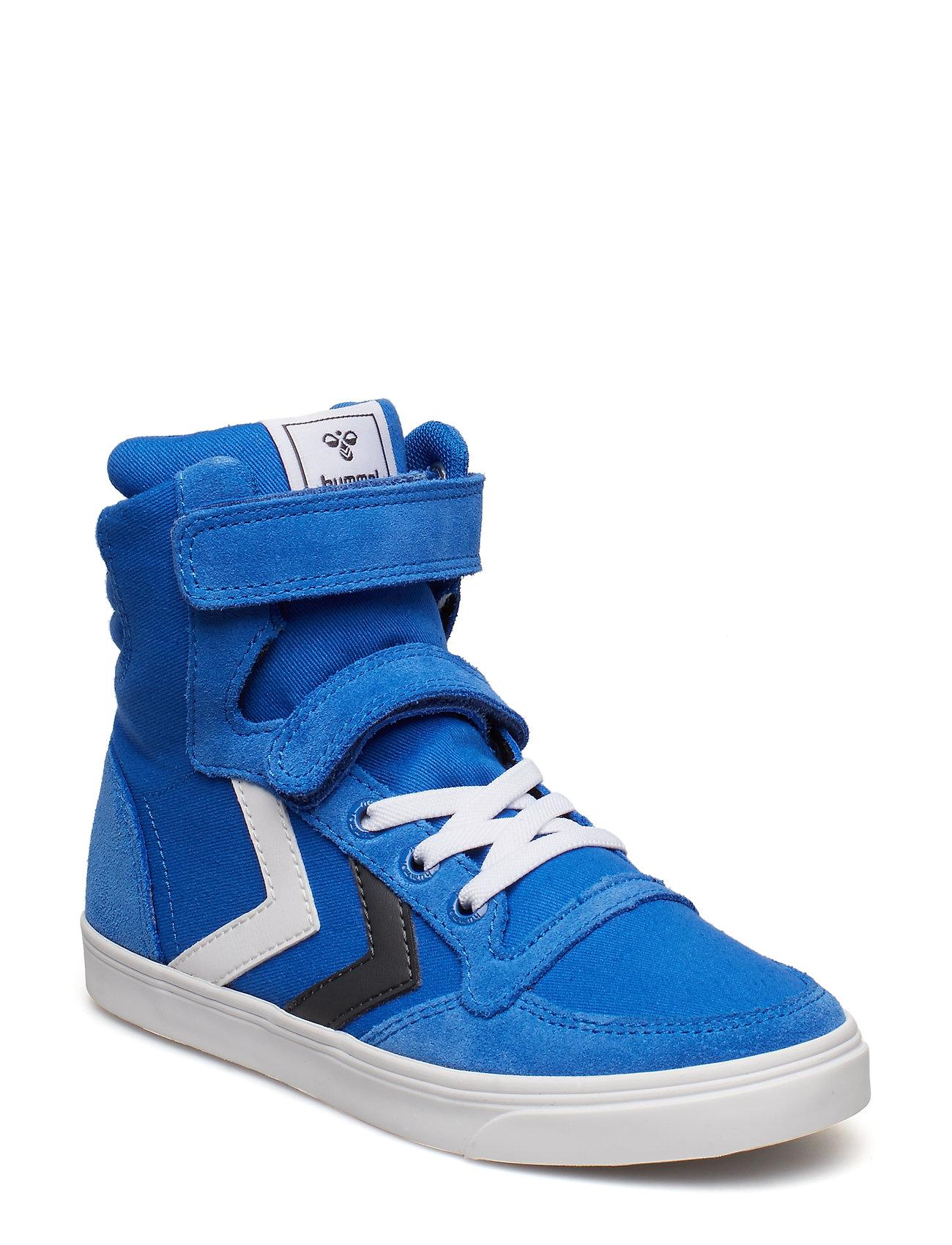 1f7078c215c Slimmer Stadil High Jr Sneakers Sko Blå HUMMEL