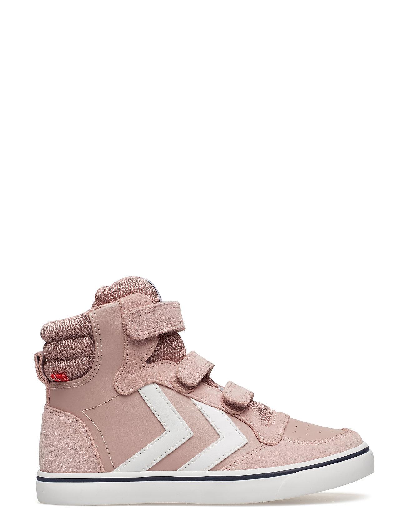 8283dfa379b Stadil Leather High Jr sneakers fra Hummel til børn i BLACK IRIS ...