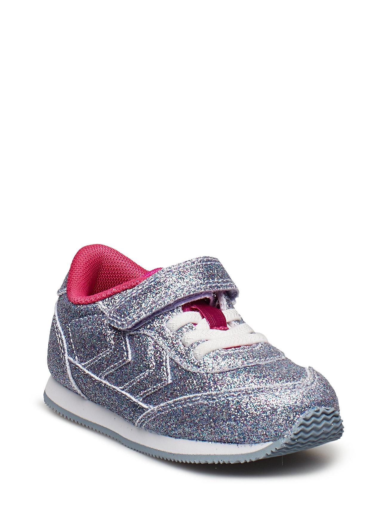 Reflex Glitter Infant Sneakers Sko Sølv HUMMEL