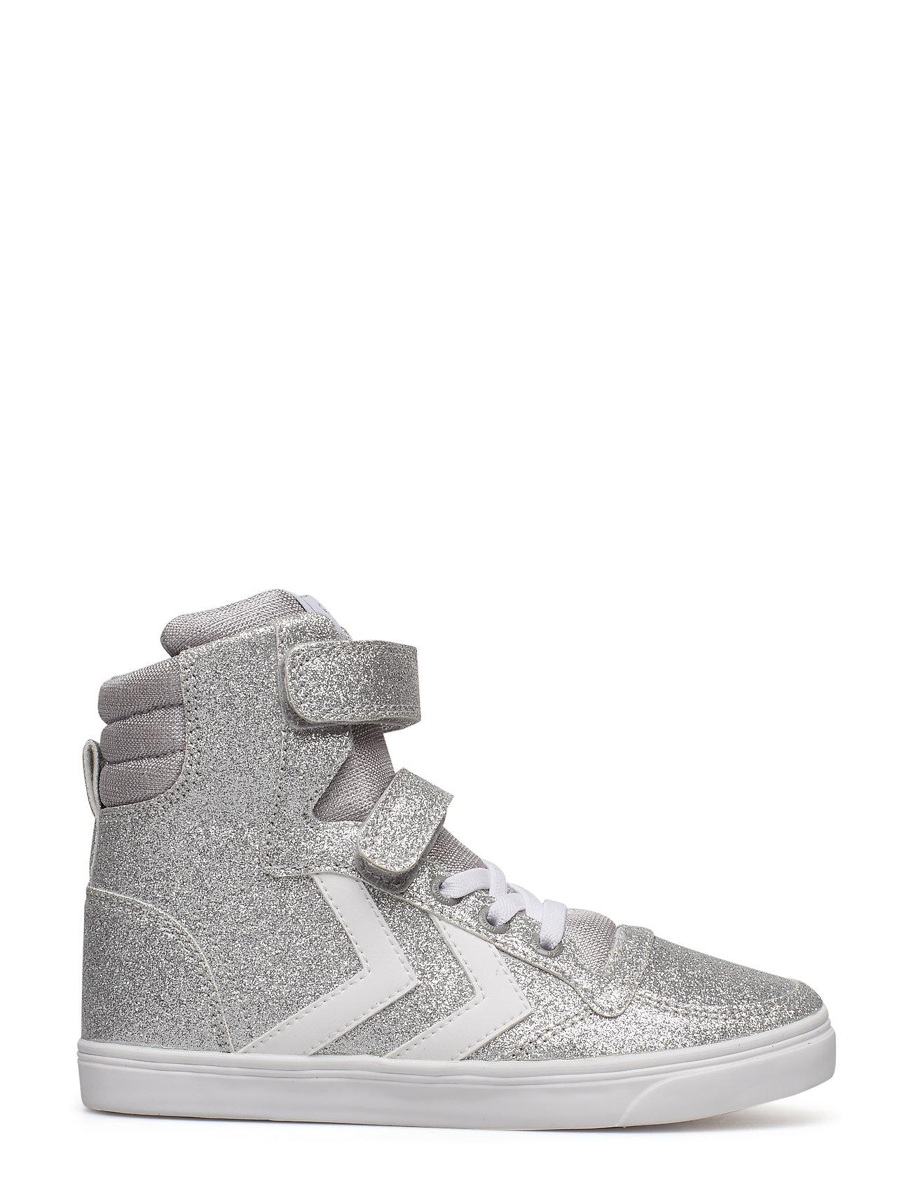 9b733981b03 Slimmer Stadil Glitter High Jr sneakers fra Hummel til børn i Sølv ...