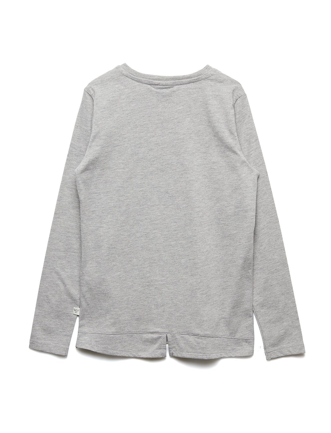 Hmlamy T Shirt LS Langærmet T shirt Grå HUMMEL