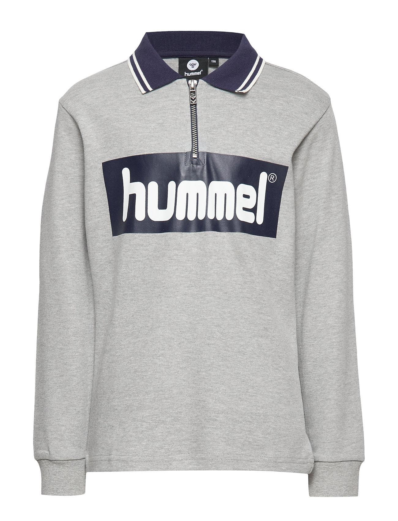 Hummel hmlKINGSLEY T-SHIRT L/S - GREY MELANGE