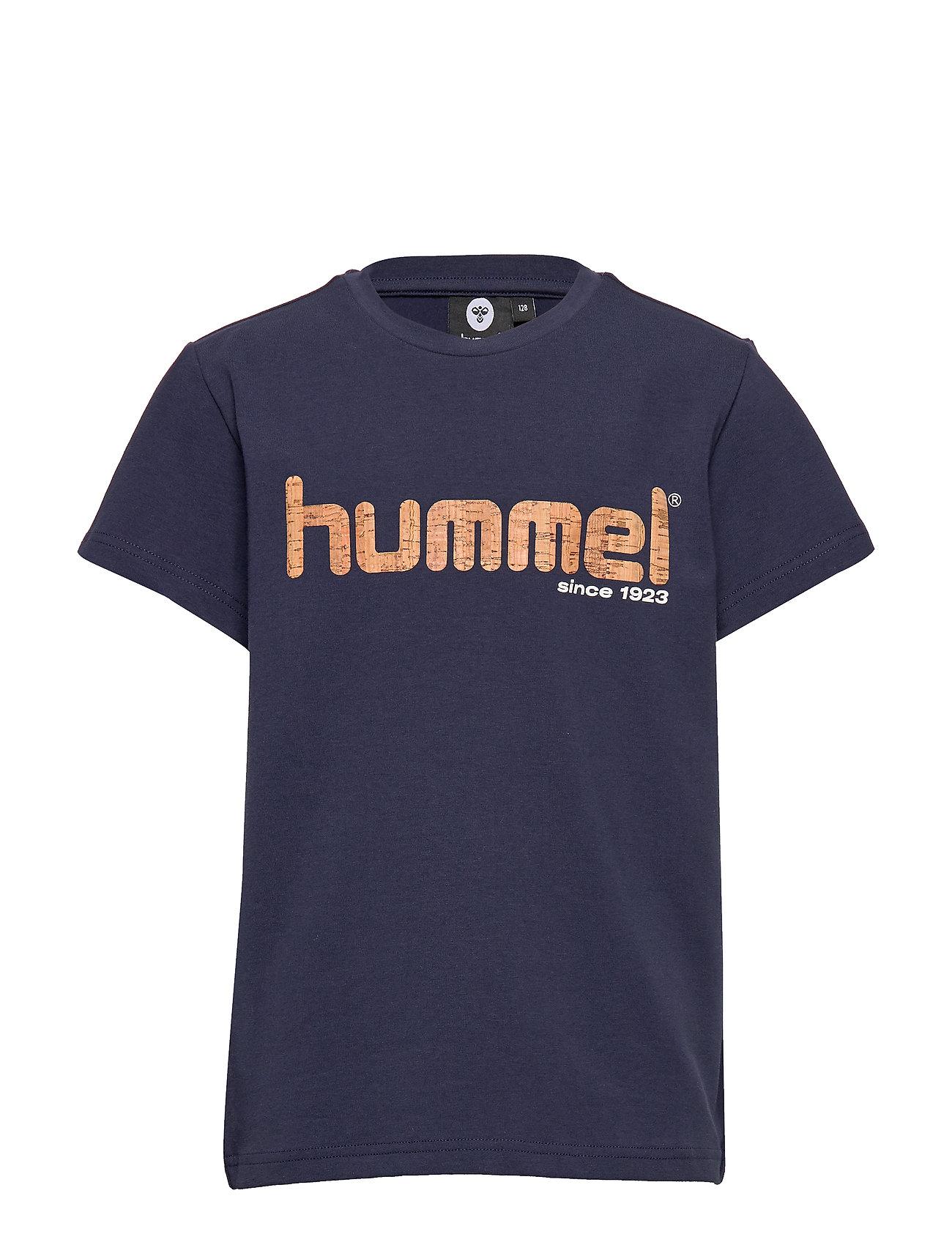 Hummel hmlLEO T-SHIRT S/S - BLACK IRIS