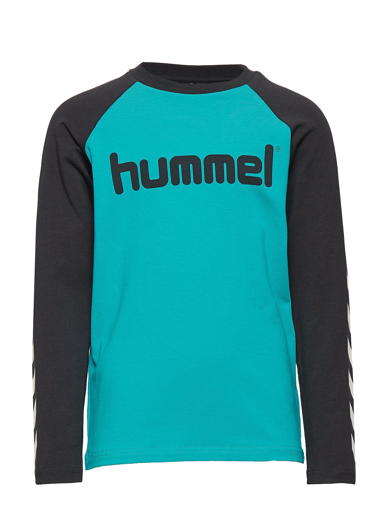Hummel hmlBOYS T-SHIRT L/S - BLACK/LAKE BLUE