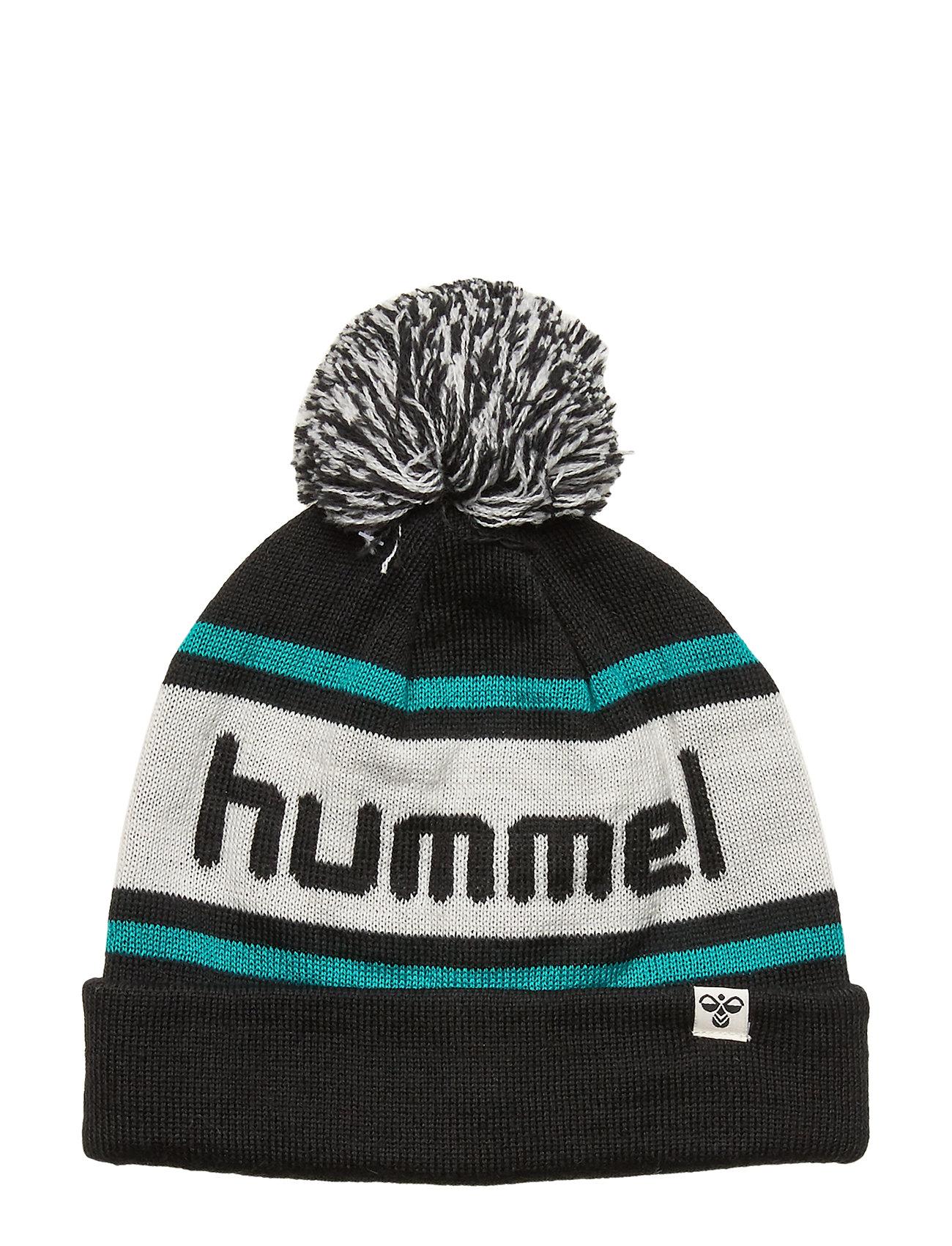 Hummel hmlTOWN BEANIE - BLACK/LAKE BLUE