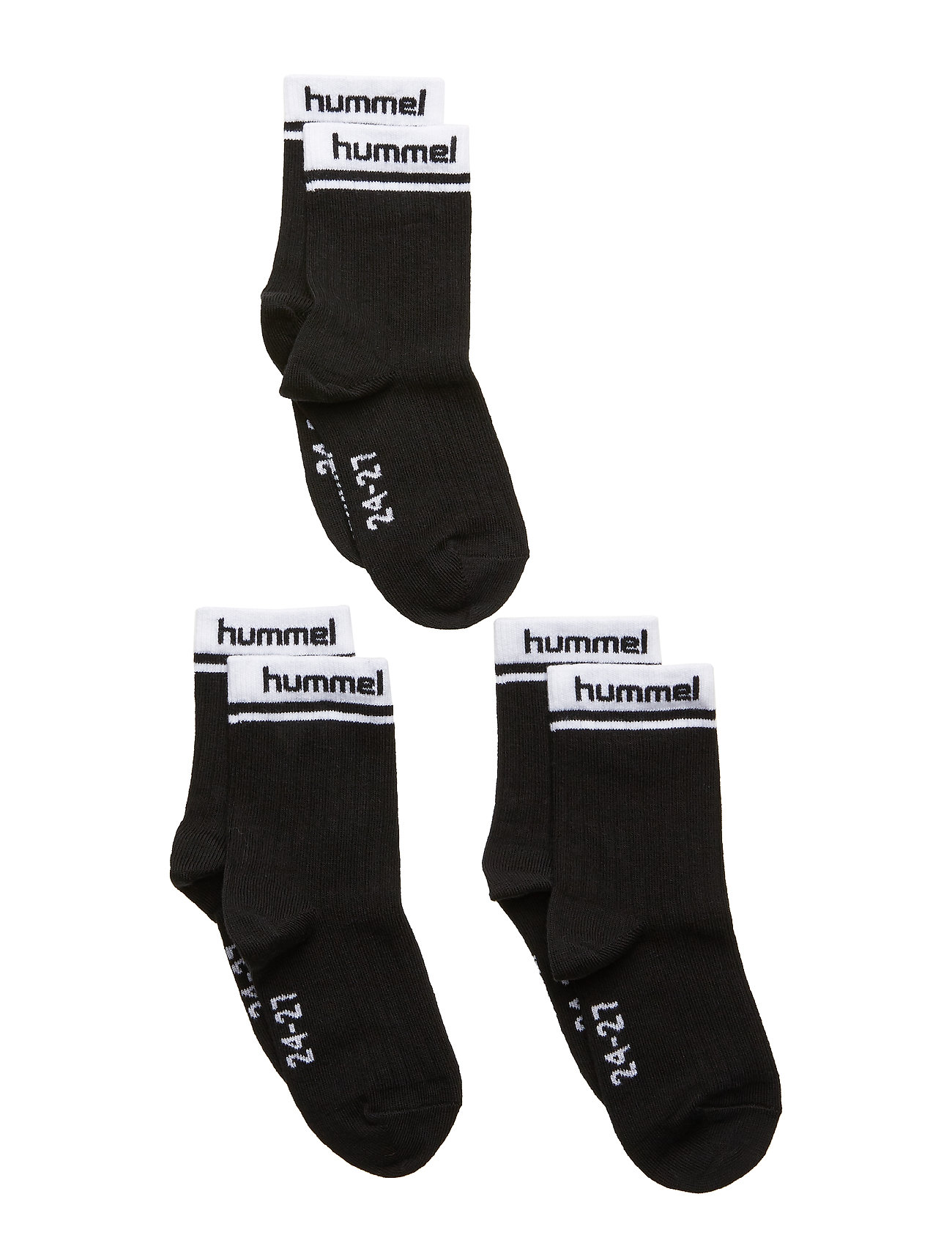 Hummel hmlCONI 3-PACK SOCK - BLACK