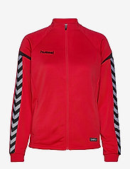 AUTH. CHARGE POLY ZIP JKT WO - TRUE RED