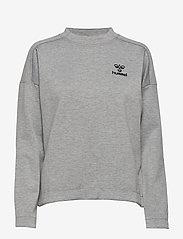 Hummel - CLASSIC BEE WO ZION SWEATSHIRT - sweatshirts - grey melange - 0