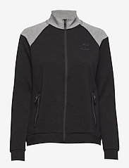 Hummel - CLASSIC BEE WO ZION ZIP JACKET - sweatshirts - black - 0