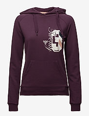 Hummel - CLASSIC BEE VENUS HOODIE - hoodies - blackberry wine - 0