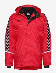 Hummel - AUTH. CHARGE ALL-WEATHER JKT - wandel- en regenjassen - true red/black - 0