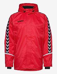 Hummel - AUTH. CHARGE ALL-WEATHER JKT - wandel- en regenjassen - true red/black - 1
