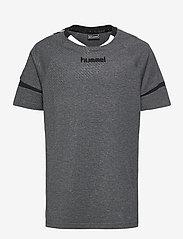 Hummel - AUTH. CHARGE SS TRAIN. JERSEY - t-shirts à manches courtes - dark grey melange - 0