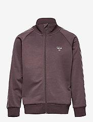 Hummel - HMLKICK ZIP JACKET - sweatshirts - sparrow - 0