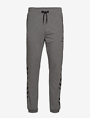 Hummel - HMLRAY PANTS - pants - dark grey melange - 0