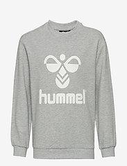 Hummel - HMLDOS SWEATSHIRT - sweatshirts - grey melange - 0