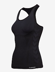Hummel - HMLCLEA SEAMLESS TOP - tank tops - black melange - 3