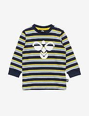 Hummel - hmlJOHNY T-SHIRT L/S - logo - black iris - 0