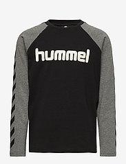 Hummel - hmlBOYS T-SHIRT L/S - long-sleeved t-shirts - black - 0