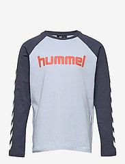 Hummel - hmlBOYS T-SHIRT L/S - long-sleeved t-shirts - blue fog - 0
