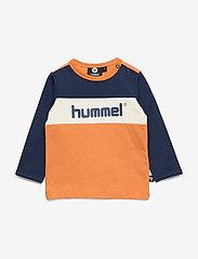 Hummel - hmlCLYDE T-SHIRT L/S - long-sleeved t-shirts - apricot buff - 0